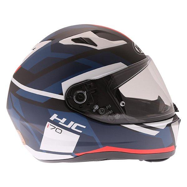 HJC I70 Elim Red Black Blue White Full Face Motorcycle Helmet Right Side