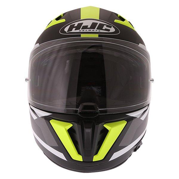 HJC I70 Elim Black Grey Fluo Full Face Motorcycle Helmet Front