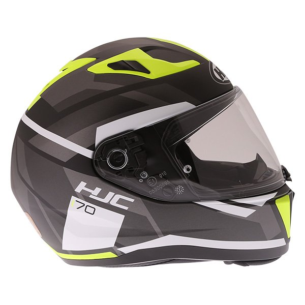 HJC I70 Elim Black Grey Fluo Full Face Motorcycle Helmet Right Side