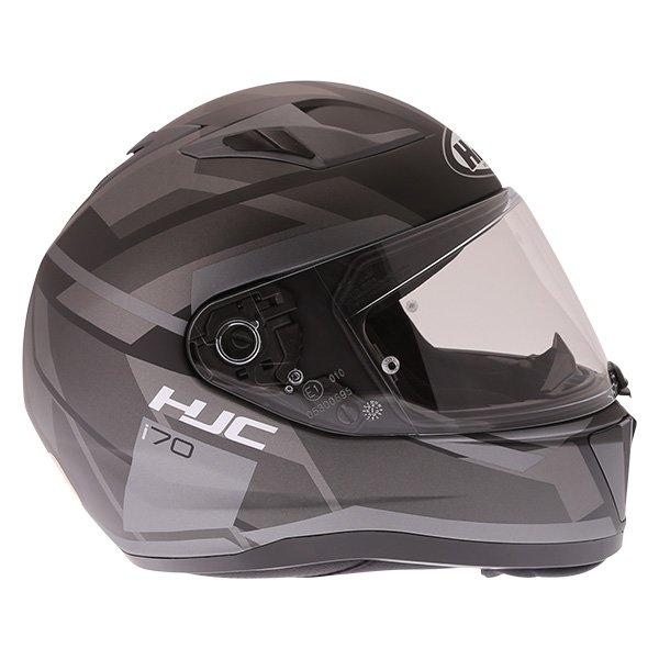HJC I70 Elim Black Grey Full Face Motorcycle Helmet Right Side