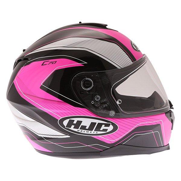 HJC C70 Lianto Ladies Pink Full Face Motorcycle Helmet Right Side