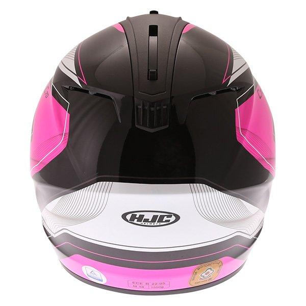 HJC C70 Lianto Ladies Pink Full Face Motorcycle Helmet Back