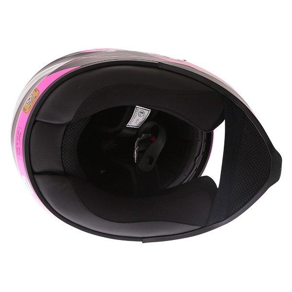 HJC C70 Lianto Ladies Pink Full Face Motorcycle Helmet Inside