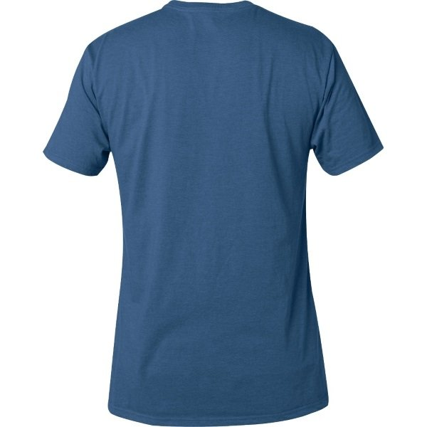 Fox Legacy Distressed Blue Fox Head T-Shirt Back