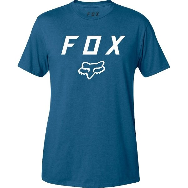 Fox Legacy Distressed Blue Moth T-Shirt Front