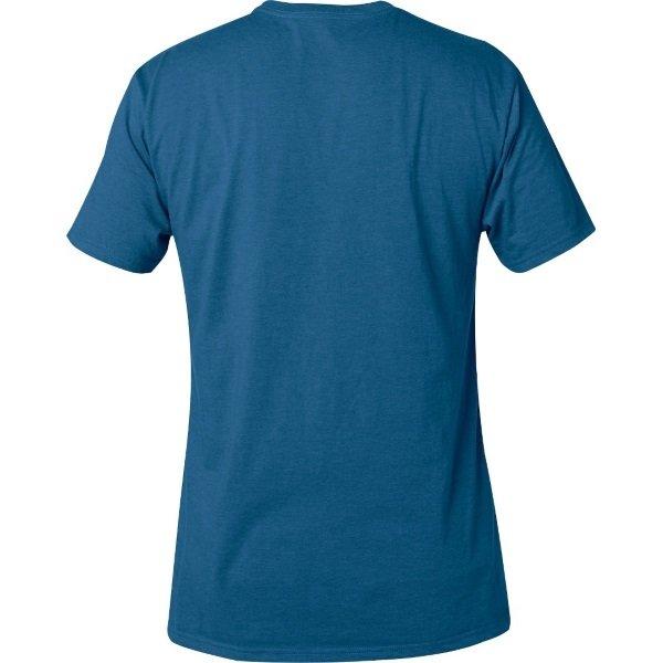 Fox Legacy Distressed Blue Moth T-Shirt Back