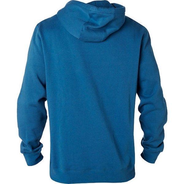 Fox Legacy Distressed Blue Foxhead Zip Fleece Back