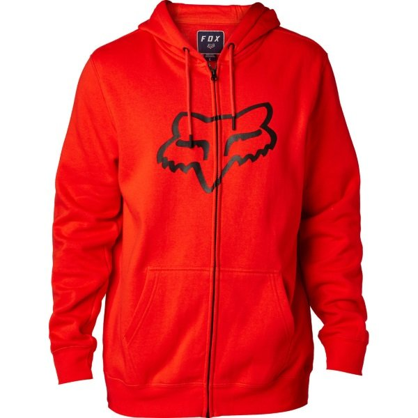 Fox Legacy Dark Red Foxhead Zip Fleece Front