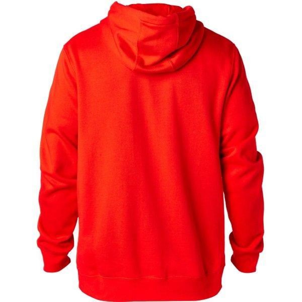 Fox Legacy Dark Red Foxhead Zip Fleece Back