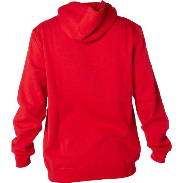 Fox Legacy Dark Red Foxhead Fleece Back
