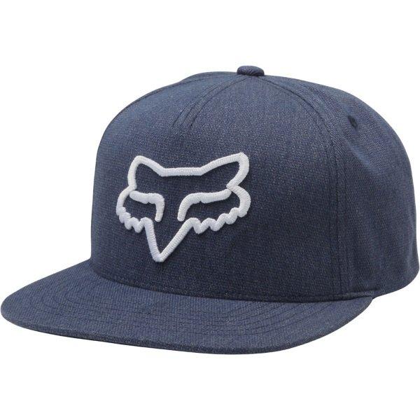 Fox Instill Navy White Snapback Hat Front