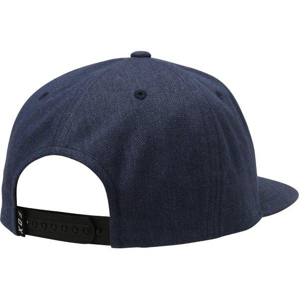 Fox Instill Navy White Snapback Hat Back