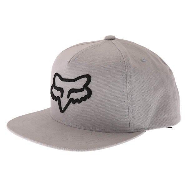 Fox Instill Snapback Steel Grey Baseball Cap Front Left