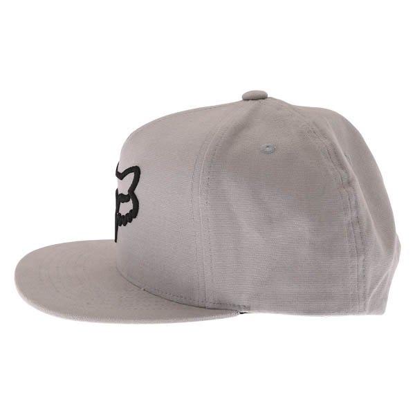 Fox Instill Snapback Steel Grey Baseball Cap Left Side