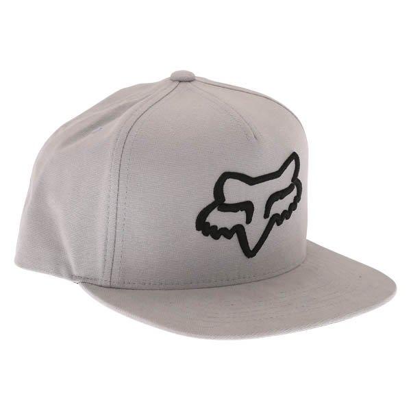Fox Instill Snapback Steel Grey Baseball Cap Front Right