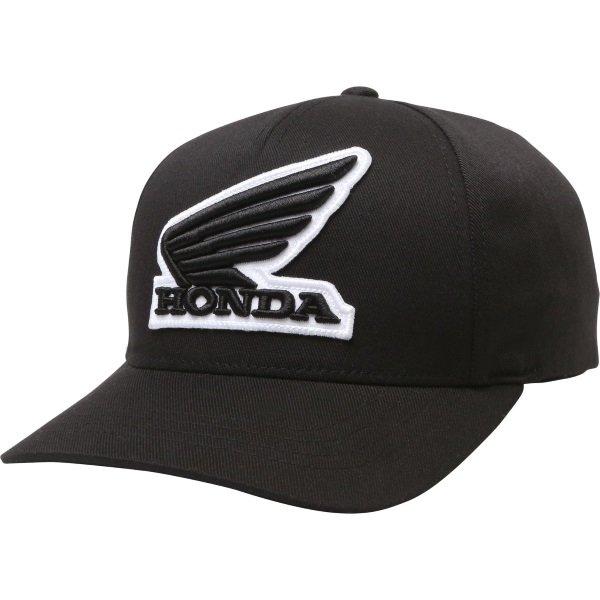 Fox Honda Black Flexfit Hat Front
