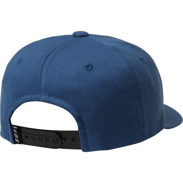 Fox Legacy Moth 110 Distressed Blue Snapback Hat Back