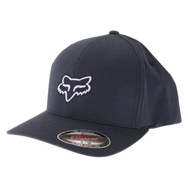 Fox Legacy Flexfit Navy Baseball Cap Front Left