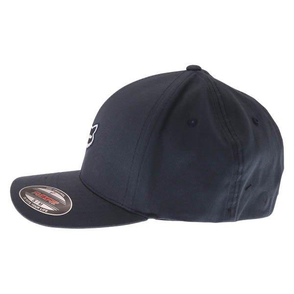 Fox Legacy Flexfit Navy Baseball Cap Left Side