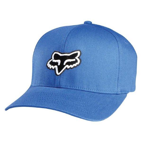 Fox Legacy Flexfit Distressed Blue Hat Front