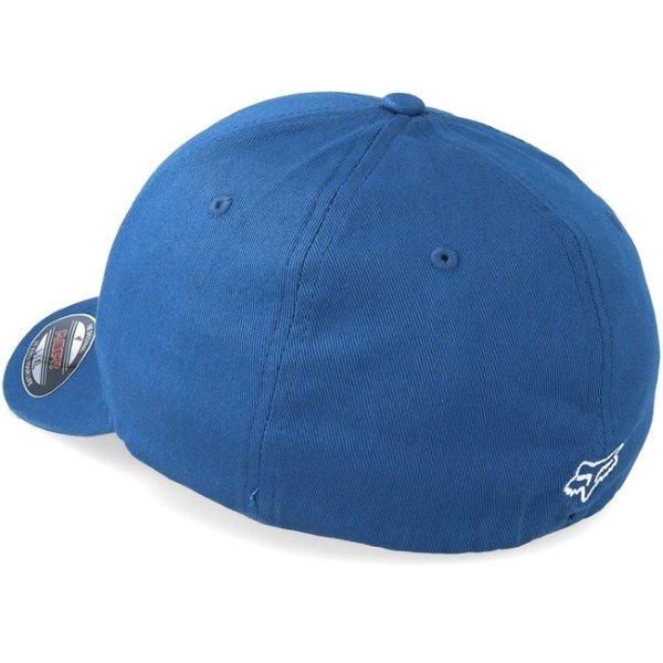 Fox Legacy Flexfit Distressed Blue Hat Back