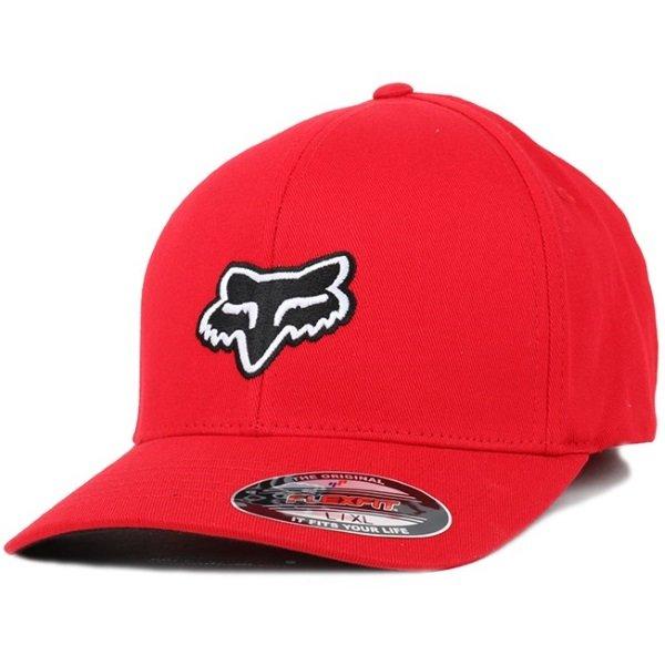 Fox Legacy Flexfit Dark Red Hat Front