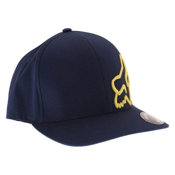 Fox Flex 45 Flexfit Navy Yellow Baseball Cap Front Right