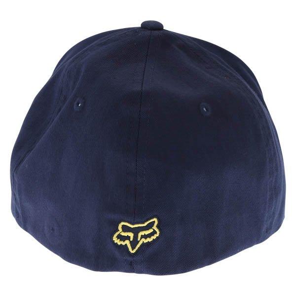 Fox Flex 45 Flexfit Navy Yellow Baseball Cap Front Back