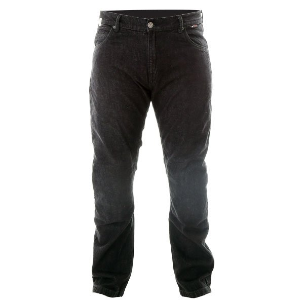RED017 Modica Jeans Black Denim Motorcycle Jeans