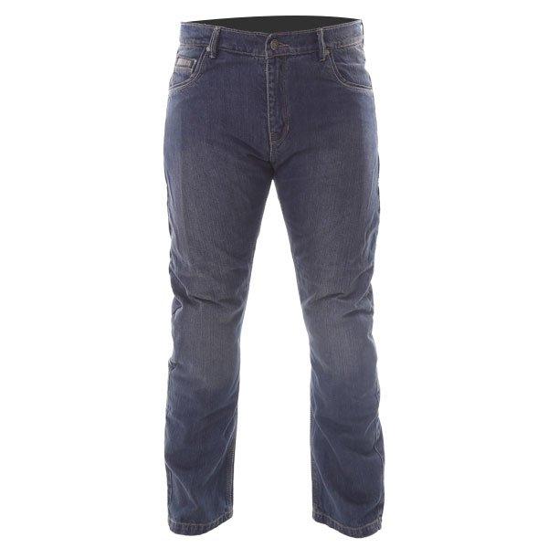 BKS BKS001 Lion Blue Denim Motorcycle Jeans Front