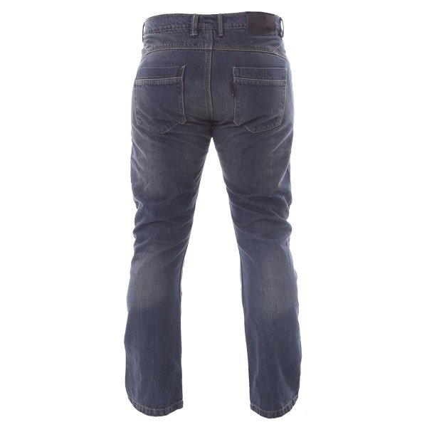 BKS BKS001 Lion Blue Denim Motorcycle Jeans Rear