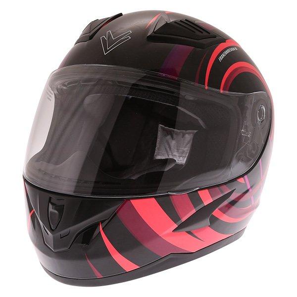 FT36 Vortex Ladies Helmet Black Pink Ladies Helmets