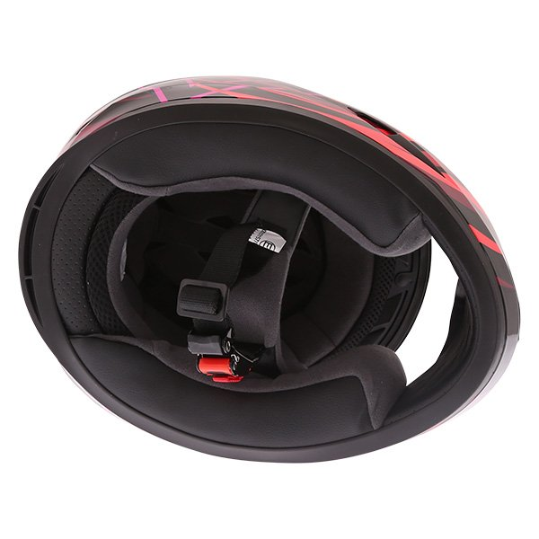 Frank Thomas FT36 Vortex Ladies Black Pink Full Face Motorcycle Helmet Inside