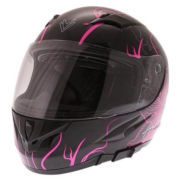 FT36SV Bloom Ladies Helmet Black Pink Ladies Helmets