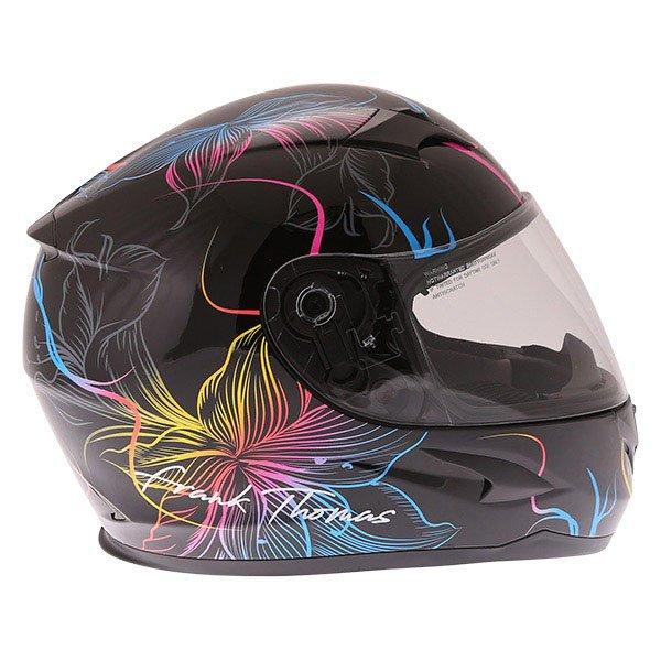 Frank Thomas FT36SV Bloom Ladies Black Multi Full Face Motorcycle Helmet Right Side