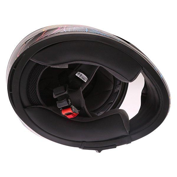 Frank Thomas FT36SV Bloom Ladies Black Multi Full Face Motorcycle Helmet Inside