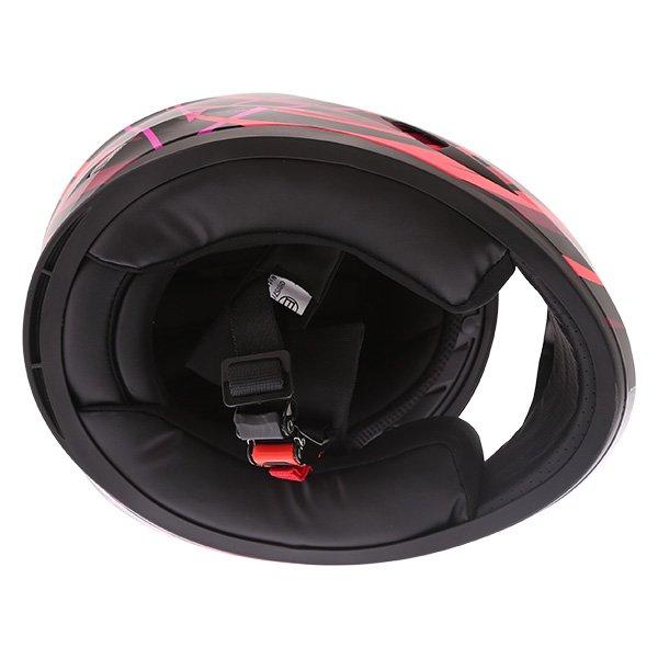 Frank Thomas FT36Y Comix Vortex Ladies Black Pink Full Face Motorcycle Helmet Inside