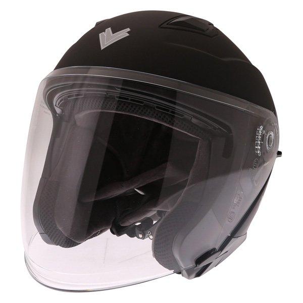 FTDV31 Open Face Helmet Matt Black Open Face Motorcycle Helmets
