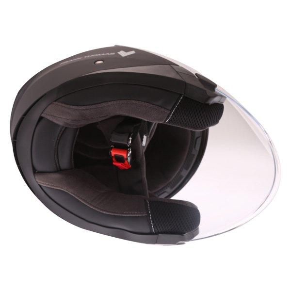 Frank Thomas FTDV31 Matt Black Open Face Motorcycle Helmet Inside