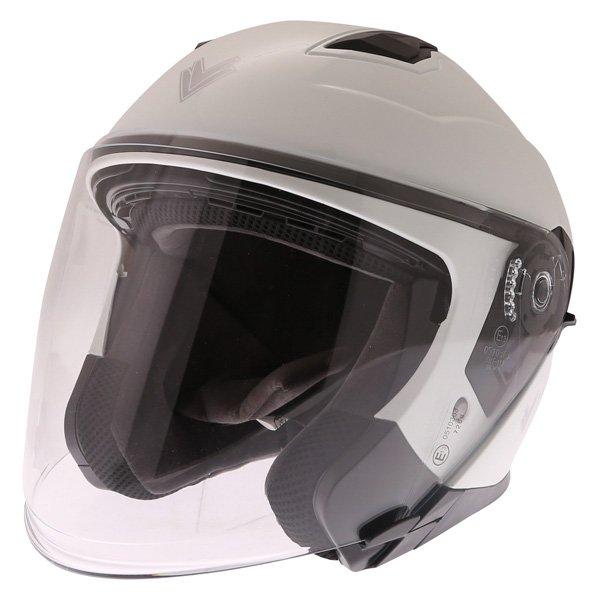 Frank Thomas FTDV31 White Open Face Motorcycle Helmet Front Left