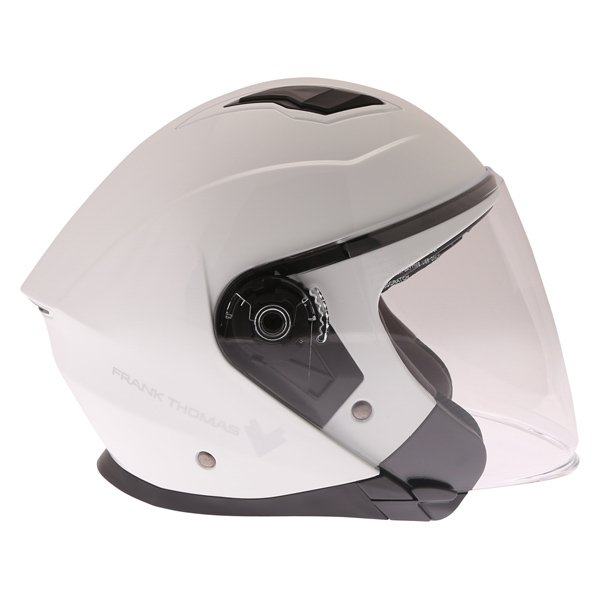 Frank Thomas FTDV31 White Open Face Motorcycle Helmet Right Side