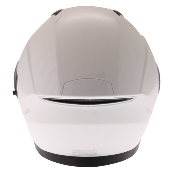 Frank Thomas FTDV31 White Open Face Motorcycle Helmet Back
