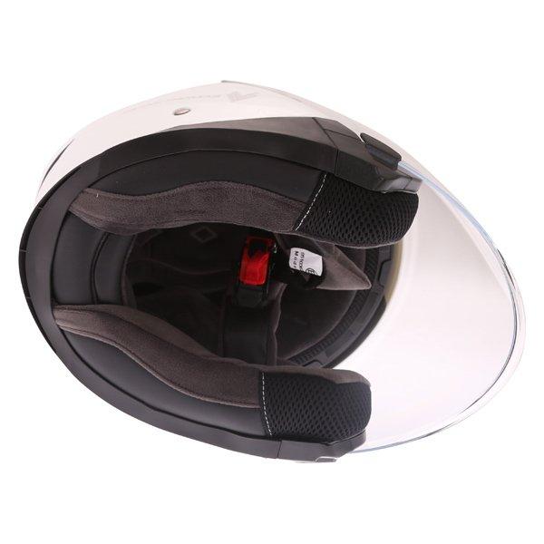 Frank Thomas FTDV31 White Open Face Motorcycle Helmet Inside