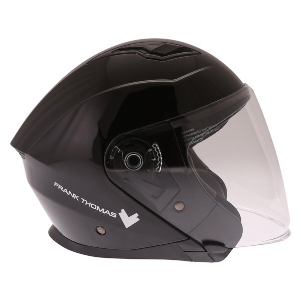 Frank Thomas FTDV31 Black Open Face Motorcycle Helmet Right Side