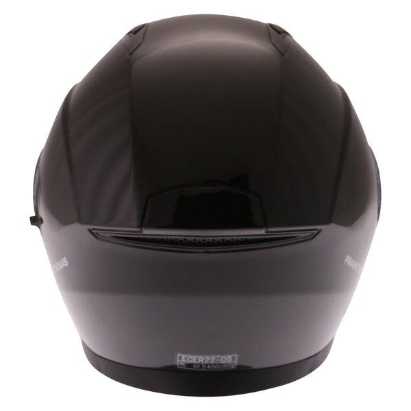 Frank Thomas FTDV31 Black Open Face Motorcycle Helmet Back