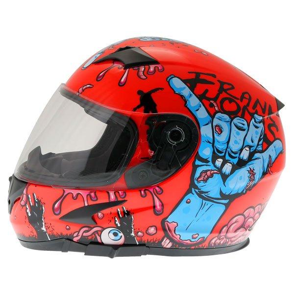 Frank Thomas FT36SV Zombie Orange Full Face Motorcycle Helmet Left Side