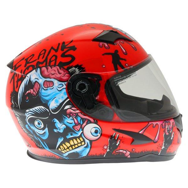 Frank Thomas FT36SV Zombie Orange Full Face Motorcycle Helmet Right Side
