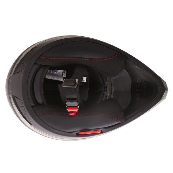 Frank Thomas FTAS001 Adventure Dual Sport Matt Black Green Motorcycle Helmet Inside