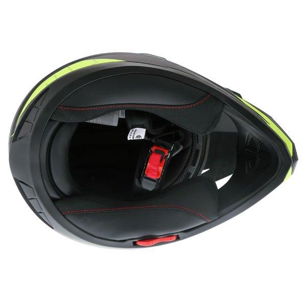 Frank Thomas FTAS001 Adventure Dual Sport Matt Black Yellow Motorcycle Helmet Inside
