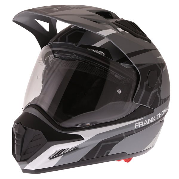 FTAS001 Adventure Sport Helmet Matt Black Grey Silver Adventure & Touring Motorcycle Helmets